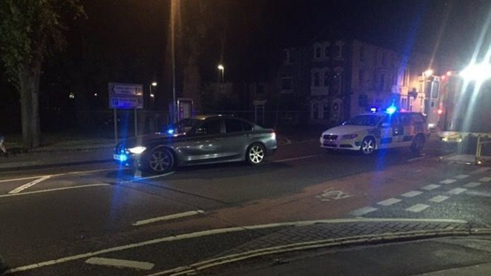 police dealing with serious collision in gosport