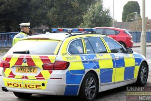 police search for bmw driver as 50 year old motorcyclist left with serious injuries