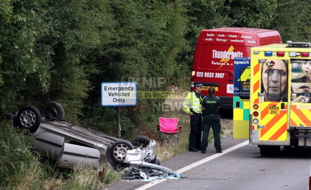 a27 overturned vehicle causes major delays