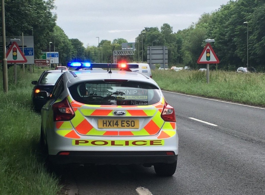 a339 basingstoke closed bothways due to police led incident