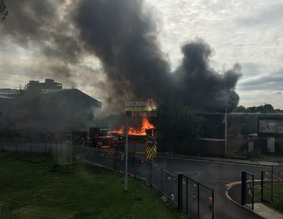 breaking major fire at the desert storm paintball centre in st helens near liverpool