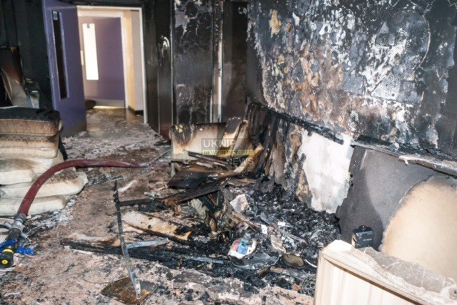 fire crews called to birmingham tower block fire thought to be arson