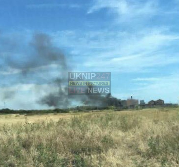 firefighters battle to put out a blaze in eastney child left badly burnt