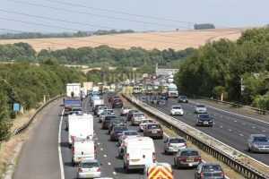 long delays on m27 near fareham following collision