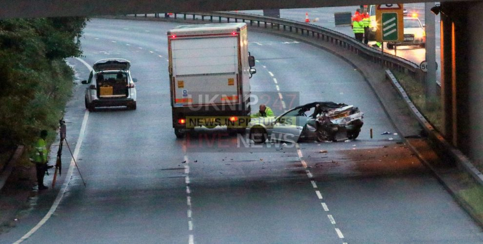 lorry driver arrested as two people left fighting for their lives after a331 crash