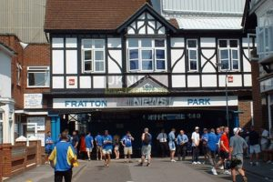 man dies at fratton park following heart attack