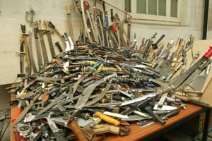 police in portsmouth running a knife amnesty at portsmouth police station