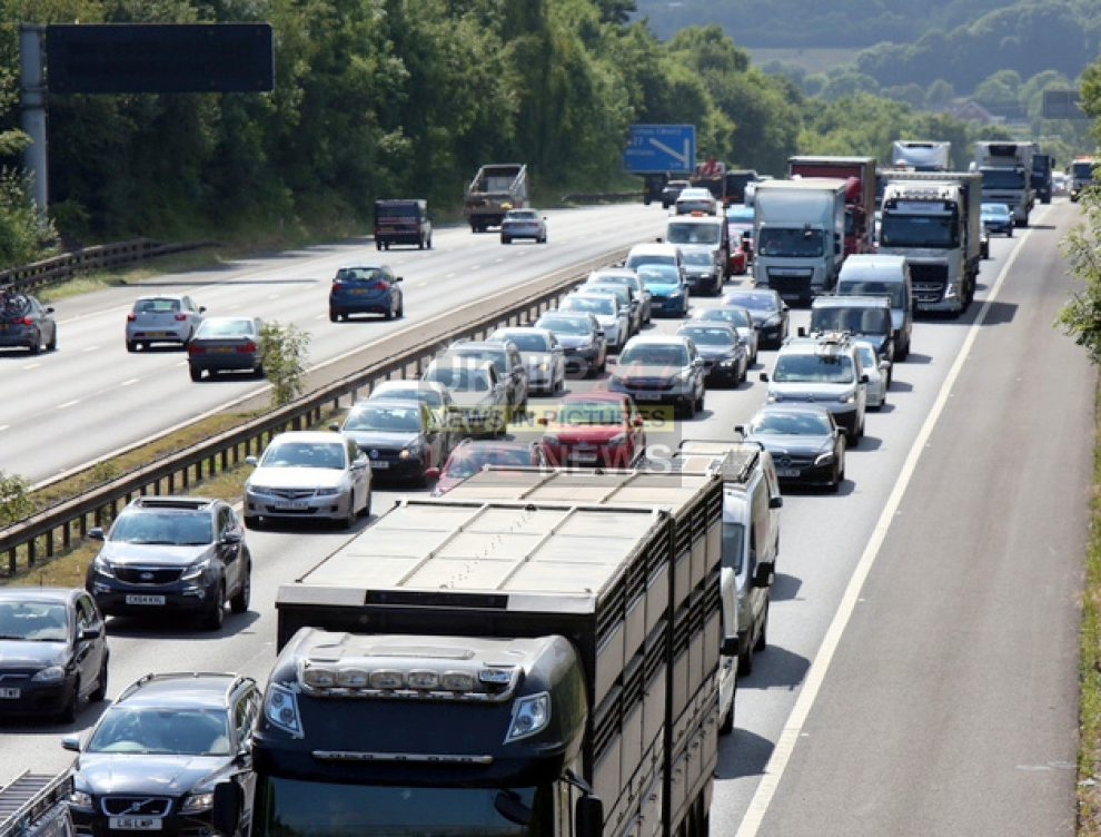 six miles of jams after crash on the m3 m27 interchange near eastleigh