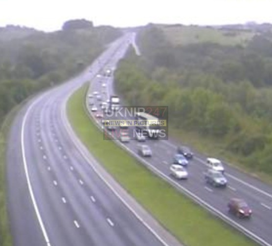 Collision On The M3 Motorway  Eastbound Sees Part Closure By Police And Long Delays