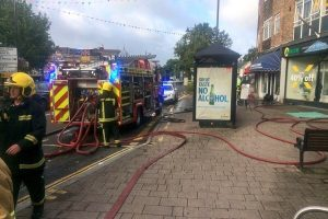 fire breaks out at fleet dry cleaners