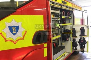 fire crews in gas tight suits recovery body from house on slough britwell estate