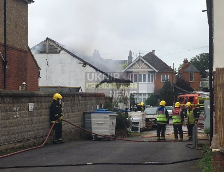 fire rips through southampton workshop and garage