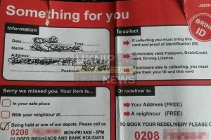 households warned over fake royal mail missed delivery card scam and it could cost you 45