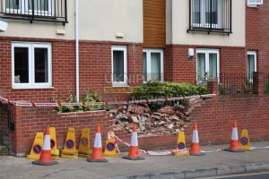pensioner ploughs into wall of a block of flats in fareham