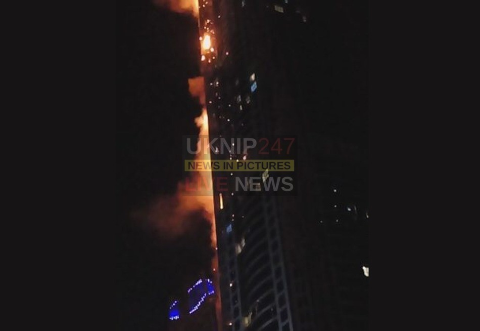 second large fire breaks out in dubai tower block