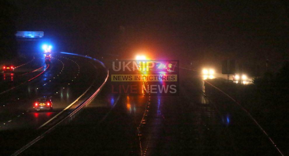 southcoast m3 motorway closed after major fuel spill by coach