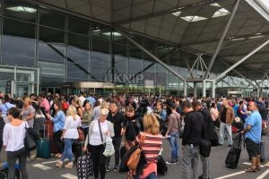 stansted airport in lock down over bomb scare