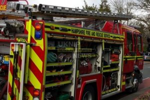 three fire crews mobilsed to house fire near fareham