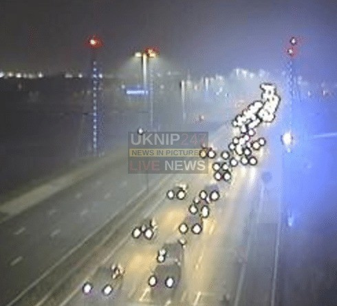 collision closes two lanes on the m275 in portsmouth