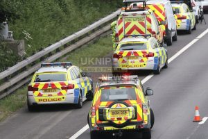 m3 southbound blocked following collision