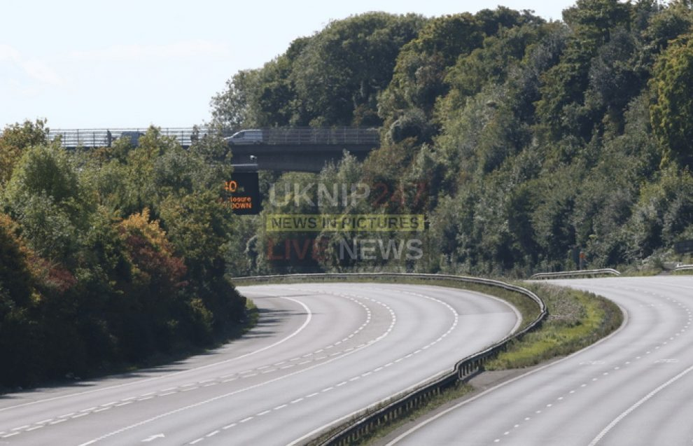 police close m3 after hazardous material found in the road
