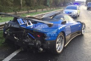 1 5 million super car collided with the crash barrier in tangmere