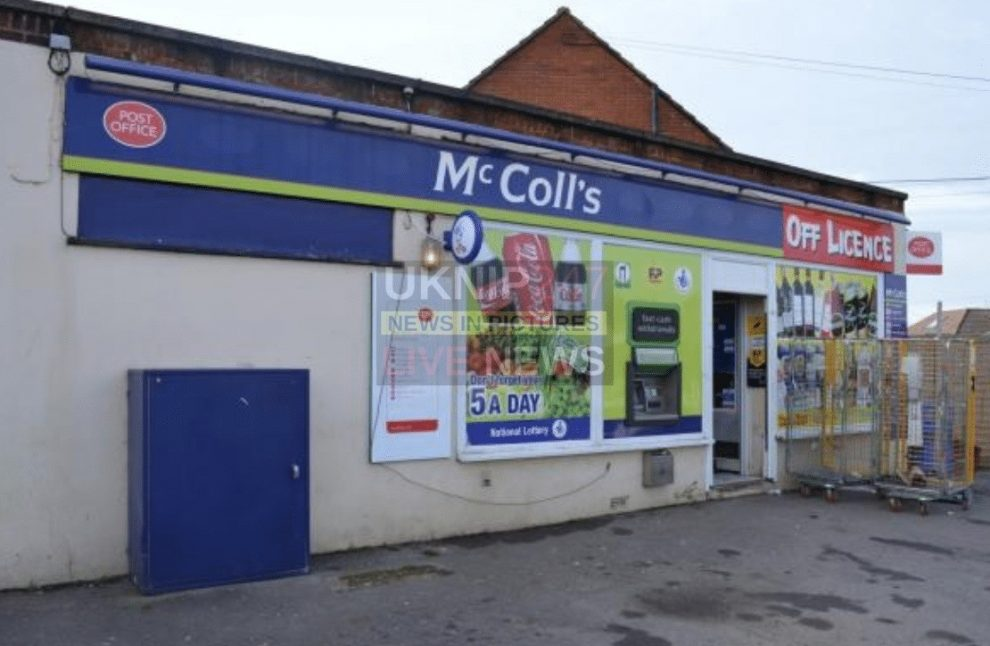 armed robber wearing halloween mask holds up mccolls in totton