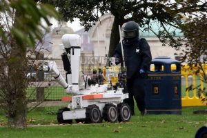 explosion in bin closes off southsea common in portsmouth