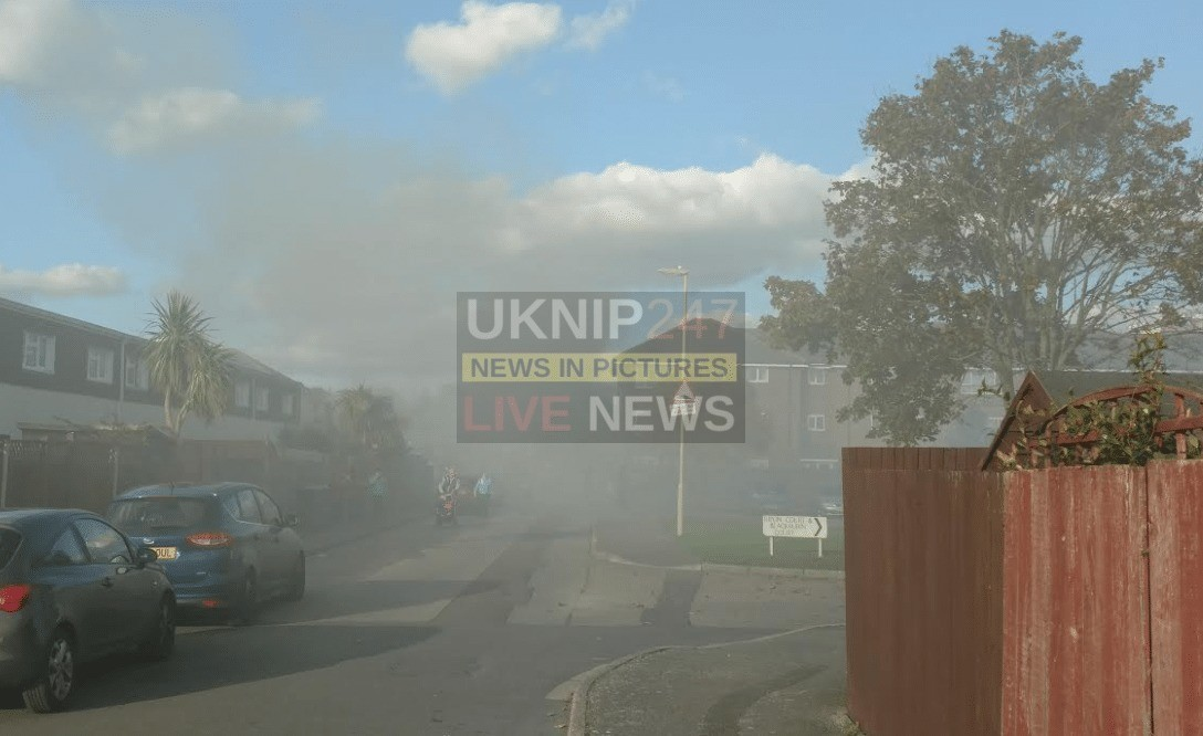 Fire Fighters Tackle Gosport  House Blaze