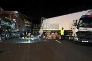 m5 two lorry involved in collision
