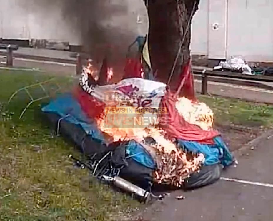 man jailed for setting fire to homeless man and his tent