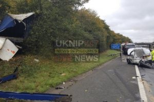police appeal for dash cam footage following multi vehicle collision on the m40