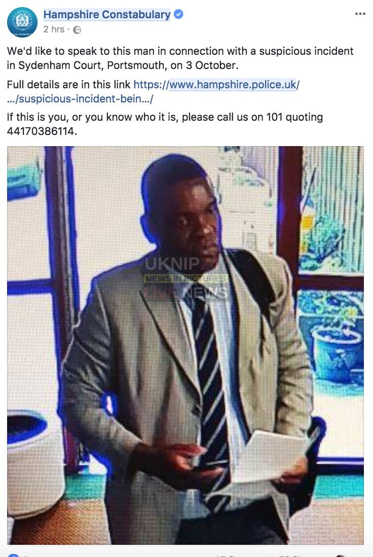 police appeal for fake sorry real portsmouth doctor