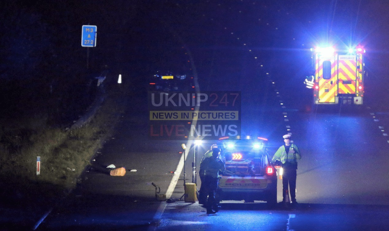 Serious Vehicle Collision Closes M3 Southbound Between Junction 1 And 2 In Surrey