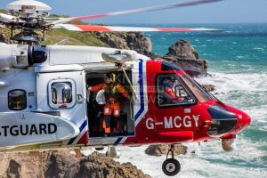 two crew airlifted by rescue helicopter following explosion onboard dredger in cornwall