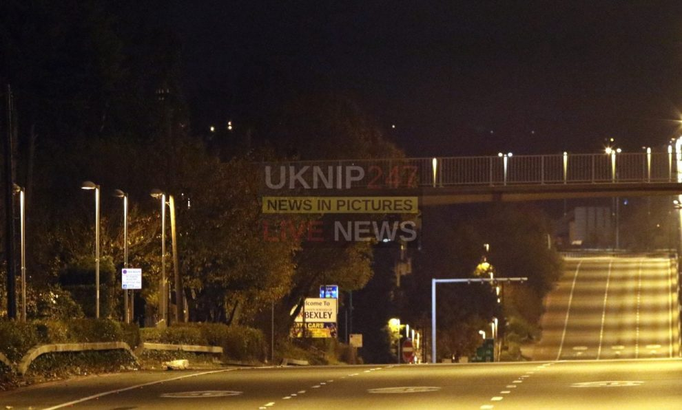 a2 reopens after police successfully talk down distressed solider from footbridge in sidcup