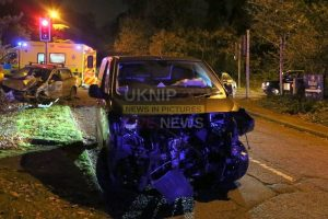 drivers escape serious injures following head on collision on a245 byfleet