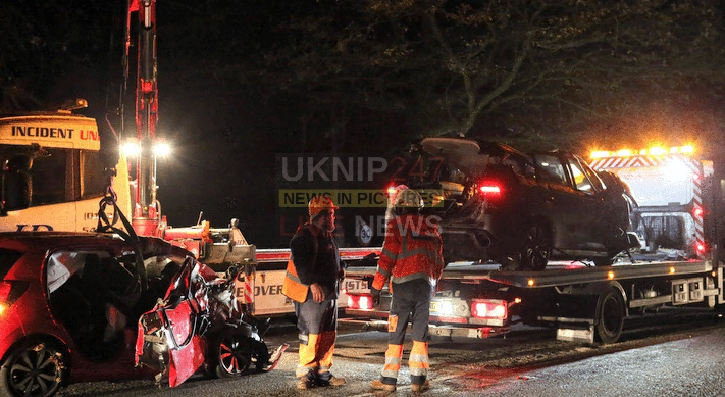 Family Cut Free From Two Vehicle Head On Horror Crash On The A31 Near  Four Marks