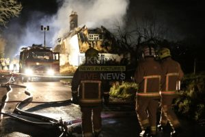 im gutted but the main thing is everyone is alright after fire rips through two 18 century cottages near farnham