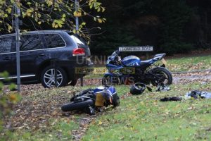 motorcyclist rushed to hospital following serious collision in hawley