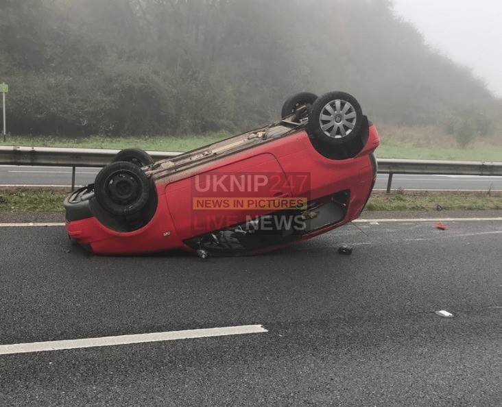 one lane closed on a3 near liss following three vehicle collision