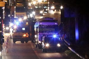 tanker in collision with car on the m25 near woking
