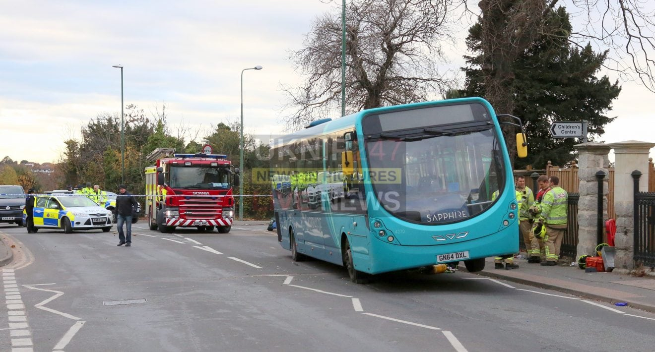 Woman Crushed Under A Bus  In Freak Accident  In Greenthithe