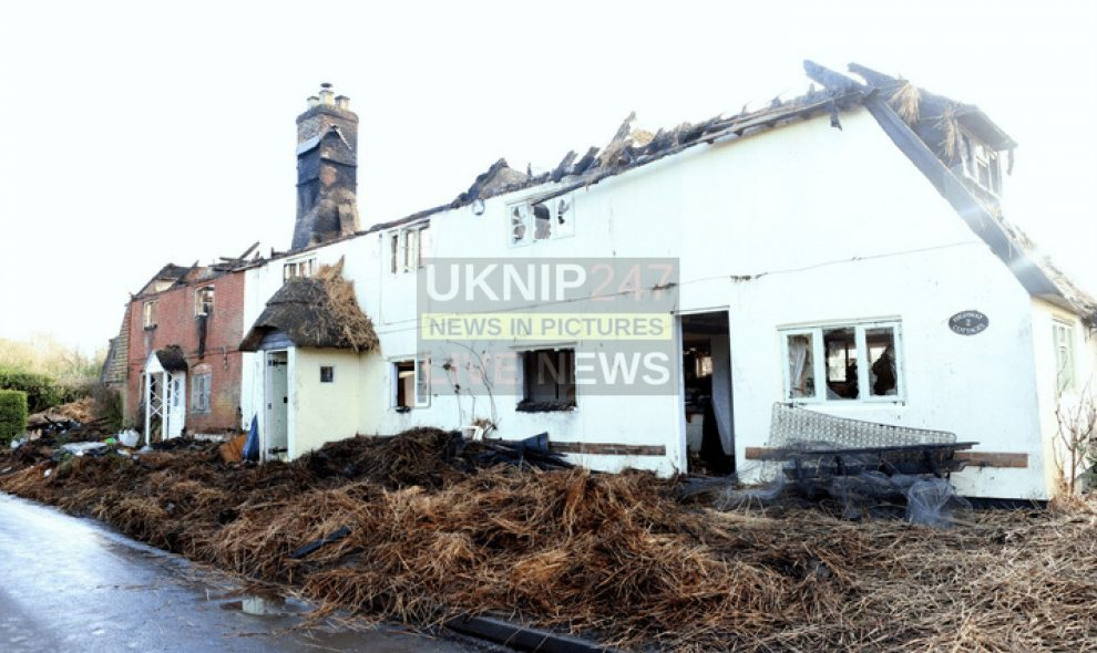 the morning after the night before after fire rips through two million pound cottages in froyle