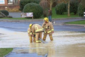 businesses evacuated after burst water main in newport leaves hundred without water supply