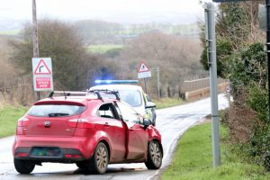 one person taken to hospital after two vehicle crash in brighstone