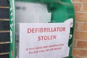 scumbag steals defibrillator from cowes clinic