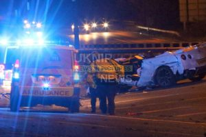 a3 closed following hit and run horror crash near wisley
