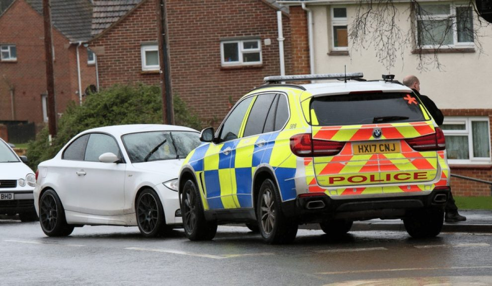 Armed Police Deployed To  Pan Estate On The Isle Of Wight