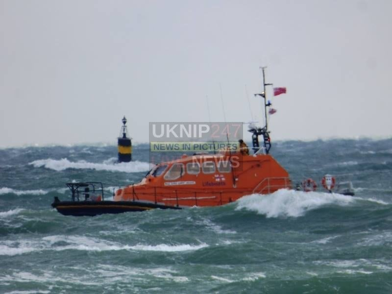 isle of wight lifeboats launched in freezing conditions to rescue motorcruiser